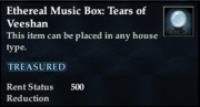 Ethereal Music Box- Tears of Veeshan