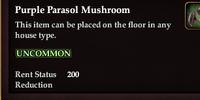Purple Parasol Mushroom