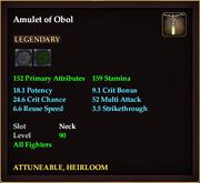 Amulet of Obol