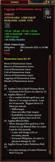 Leggings of Harmonious Auras