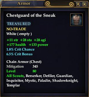 Chestpiece of the Sneak
