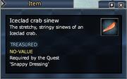 Iceclad crab sinew