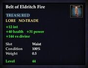 Belt of Eldritch Fire