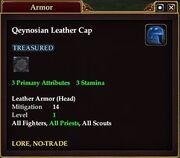Qeynosian Leather Cap