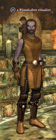 A Bloodsaber ritualist (dark elf)