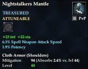 Nightstalkers Mantle