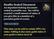 Paraffin Sealed Document