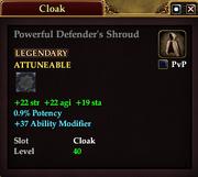 Powerful Defender's Shroud