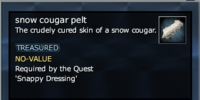 Snow cougar pelt