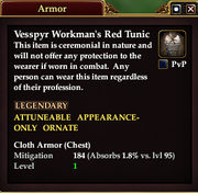 Vesspyr Workman's Red Tunic