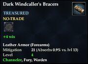 Dark Windcaller's Bracers