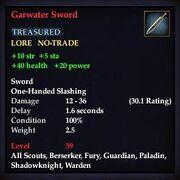 Garwater Sword