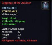Leggings of the Advisor