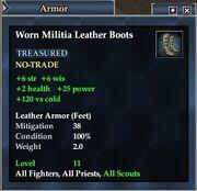 Worn Militia Leather Boots