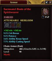 Sacrosanct Boots of the Spiritweaver