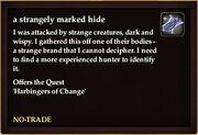 A strangely marked hide