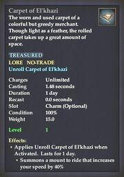Carpet of El'khazi summoner