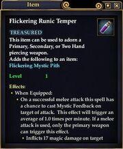 Flickering Runic Temper