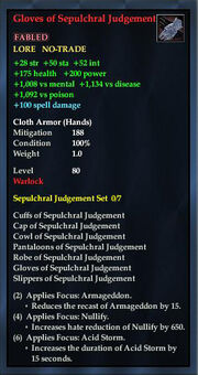 Gloves of Sepulchral Judgement