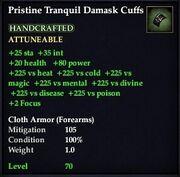 Pristine Tranquil Damask Cuffs