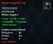Snow-Capped Cap