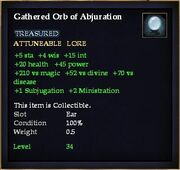 Gathered Orb of Abjuration