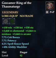 Gossamer Ring of the Thaumaturge