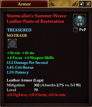 Stormcaller's Summer Weave Leather Pants of Restoration