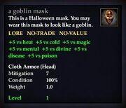 A goblin mask