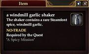 A windmill garlic shaker
