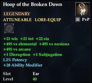 Hoop of the Broken Down