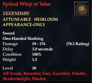 Spiked Whip of Valor