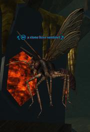 A stone hive sentinel