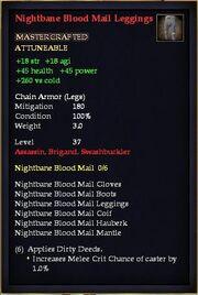 Nightbane Blood Mail Leggings
