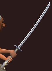 Imbued Iron Katana (Equipped)