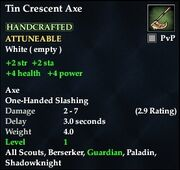 Tin Crescent Axe