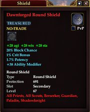 Dawnforged Round Shield
