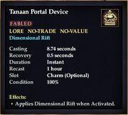 Tanaan Portal Device