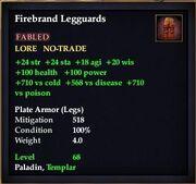 Firebrand Legguards