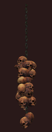 Large Dangling Skull Collection (Visible)