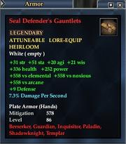 Seal Defender's Gauntlets