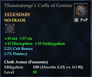 Thaumaturge's Cuffs of Genius