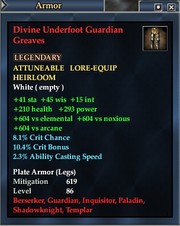 Divine Underfoot Guardian Greaves