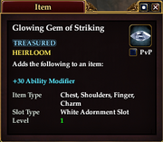 Glowing Gem of Striking