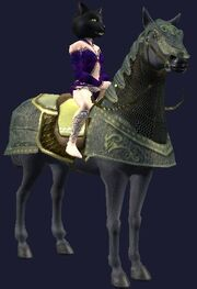 Yellow-saddled Rujarkian Destrier horse