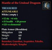 Mantle of the Undead Dragoon