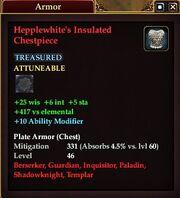 Hepplewhite's Insulated Chestpiece