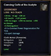 Coercing Cuffs of the Acolyte