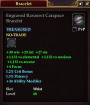 Engraved Ravasect Carapace Bracelet