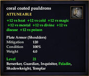 Coral Coated Pauldrons